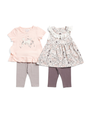 Infant Girls 4pc Mix & Match Unicorn Capri Set