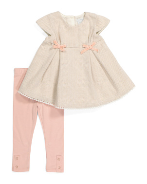 Infant Girls 2pc Herringbone Legging Set