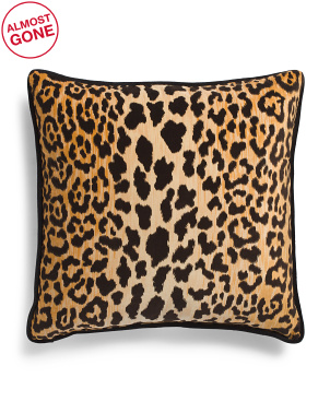 Made In Usa 22x22 Velvet Animal Print Pillow