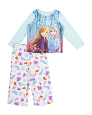 Toddler Girls 2pc Frozen 2 Micro Fleece Pajama Set