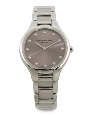 Women's Swiss Made Noemia Diamond Marker Bracelet Watch