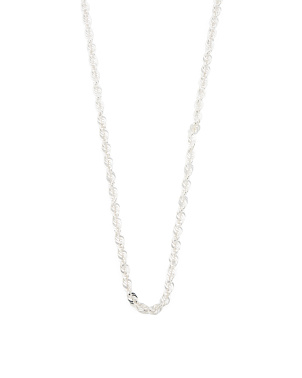 Made In Italy Sterling Silver Twisted Rope Necklace
