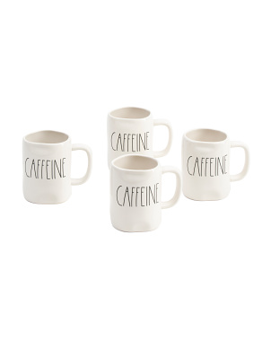 4pk Elongated Caffeine Mugs