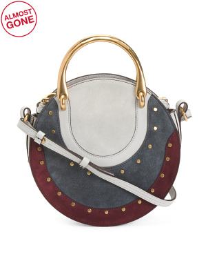 Made In Italy Pixie Embellished Leather Shoulder Bag