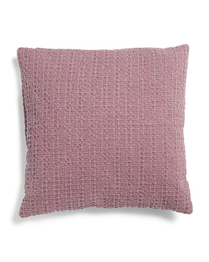 20x20 Textured Dot Cotton Pillow