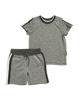 Toddler Boys 2pc Marled Short Set