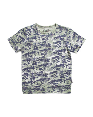 Big Boys Hawaiian Print Tee