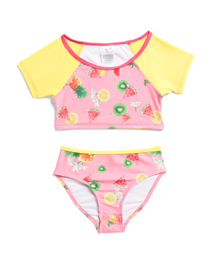 Little Girls 2pc Fruit Print Swimsuit