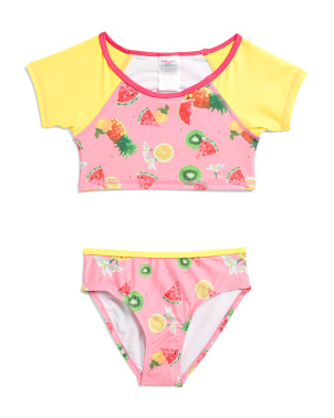 Little Girls 2pc Fruit Print Tankini Swimsuit