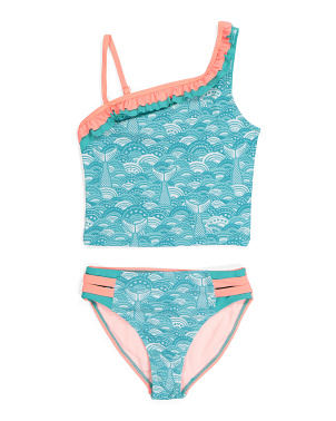 Little Girls 2pc Mermaid Tail Tankini Swimsuit