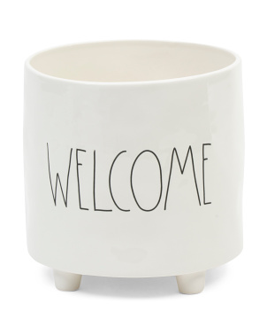 Welcome Footed Planter