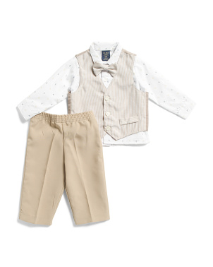 Infant Boys 4 Piece Vest And Pant Set