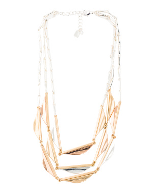 Tritone 3 Row Necklace