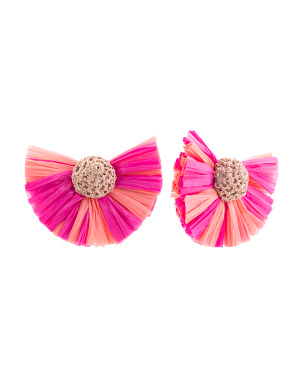 Raffia Post Earrings