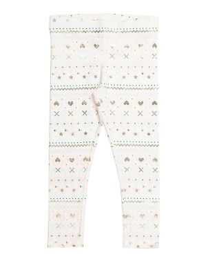 Girls Heart Fair Isle Leggings
