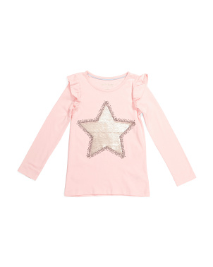 Girls Flip Sequin Star Top