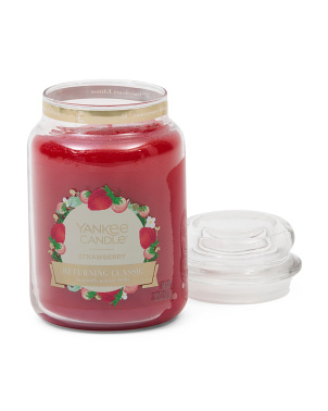 22oz Made In Usa Large Strawberry Candle
