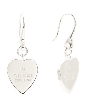 Made In Italy Sterling Silver Trademark Heart Earrings