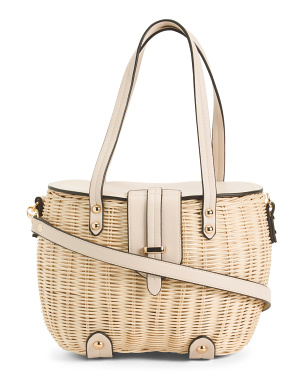Rattan Picnic Basket With Flap
