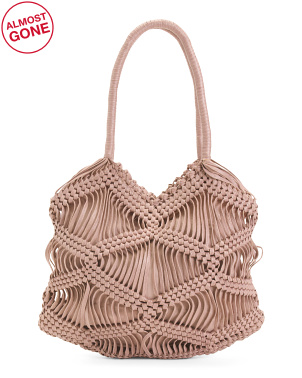 Large Macrame Hobo