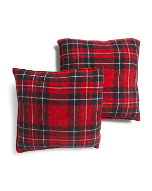 20x20 2pk Plaid Pillows