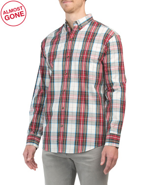 Long Sleeve Tartan Plaid Shirt