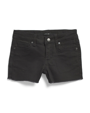 Little Girls Raw Hem Denim Shorts