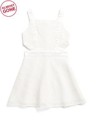 Big Girls Lace Cut Out Dress