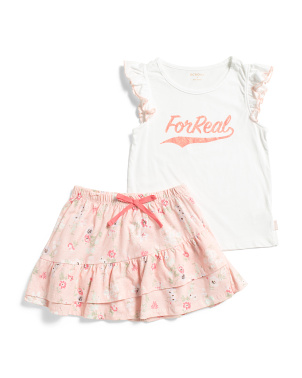 Little Girls For Real Skirt Set
