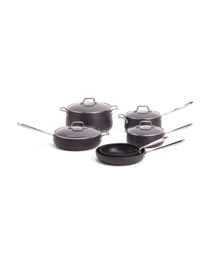 10pc Hard Anodized Non Stick Cookware Set
