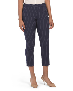 Petite Striped Ankle Pants