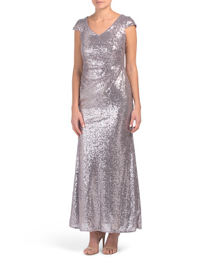 Petite Sequin Mermaid Gown