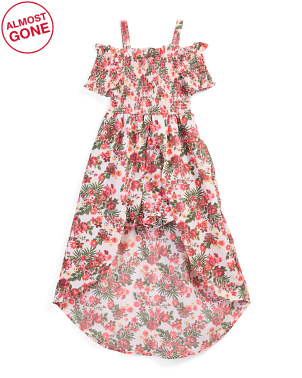 Big Girls Floral Smocked Maxi Walk Thru