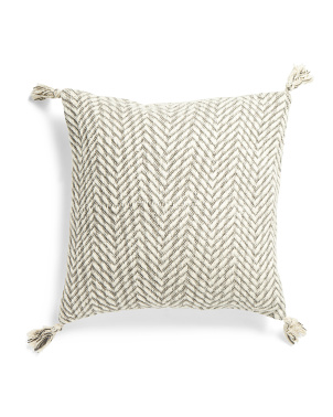 20x20 Textured Chevron Pillow