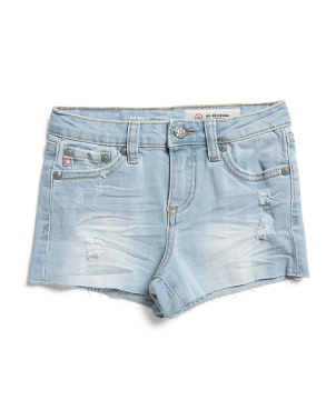 Toddler & Little Girls Raw Hem Shelby Shorts
