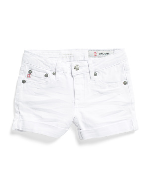 Toddler & Little Girls Roll Cuff Shorts