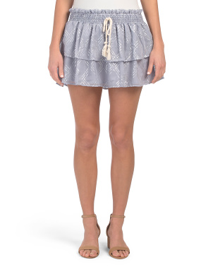 Juniors Metallic Deco Ruffle Skirt