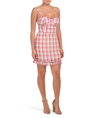 Lockport Plaid Bustier Dress