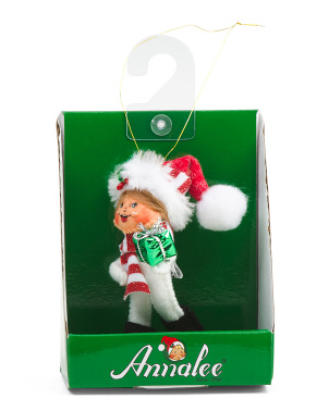3in Shimmer Mint Gift Kid Ornament