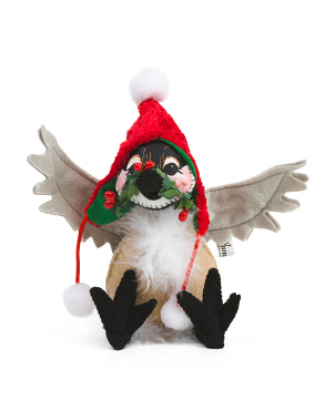 6in Cozy Christmas Chickadee