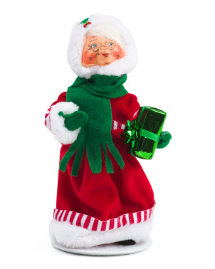 9in Shimmer Mint Mrs. Santa