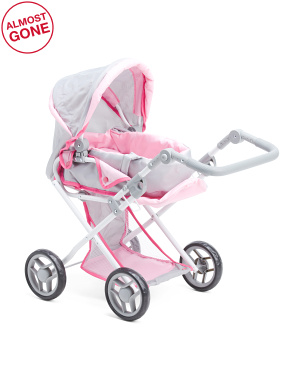 Doll Stroller With Removable Bassinet
