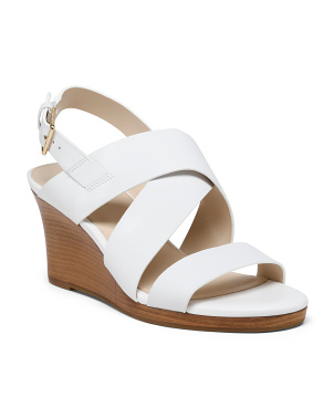 Leather All Day Comfort Wedge Sandals