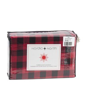 Buffalo Plaid Flannel Duvet Set