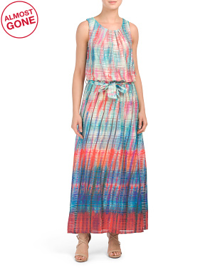 Made In Italy Shadow Stripe Maxi Dress