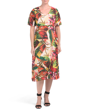 Made In Italy Floral Midi Dress