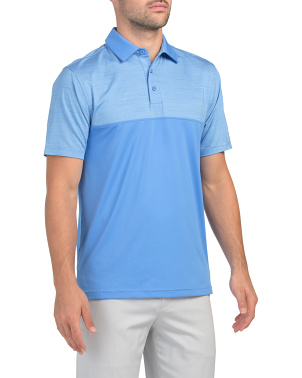 Ms Corp Playoff Color Block Polo