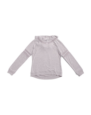 Big Girls French Terry Mesh Blocked Hoodie