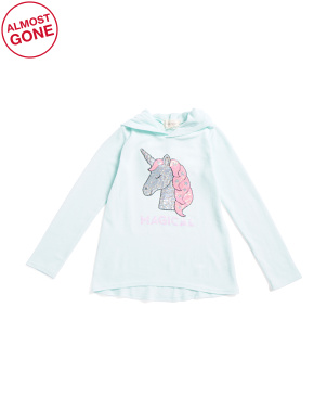 Big Girls Magical Unicorn Brushed Fleece Hoodie