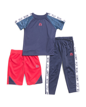 Big Boys 3pc Tee Short & Jogger Set